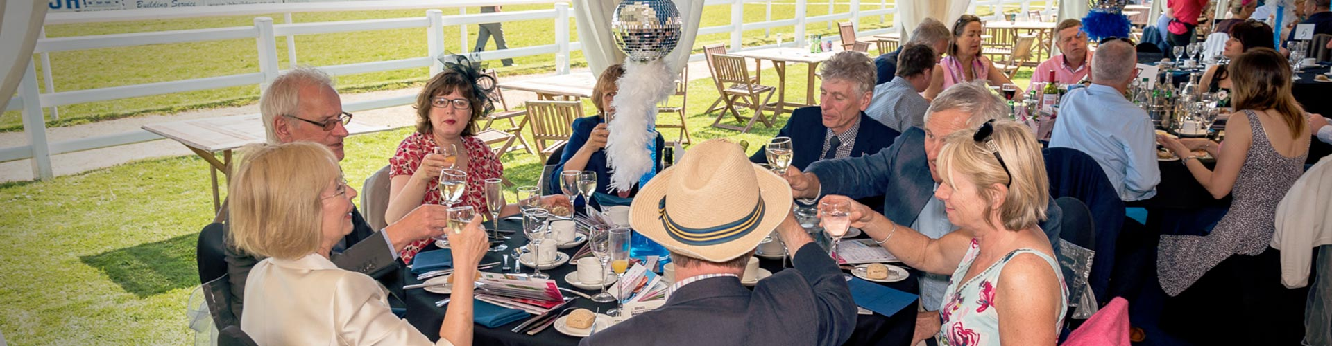 Paddock and Marquee restaurants at Plumpton Racecourse